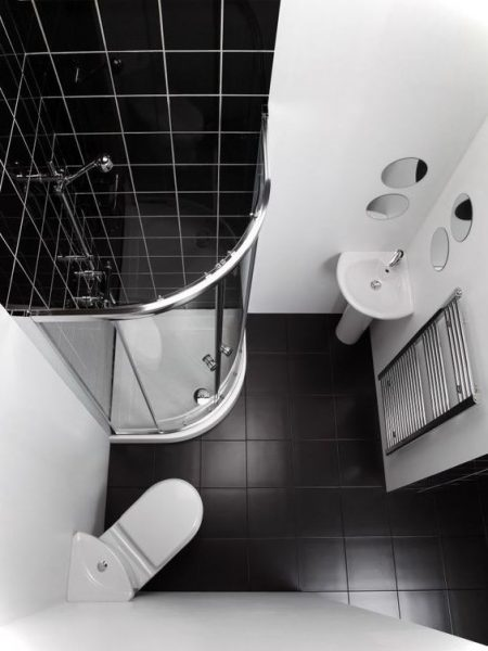 Black And White Tiny Bathroom Ideas