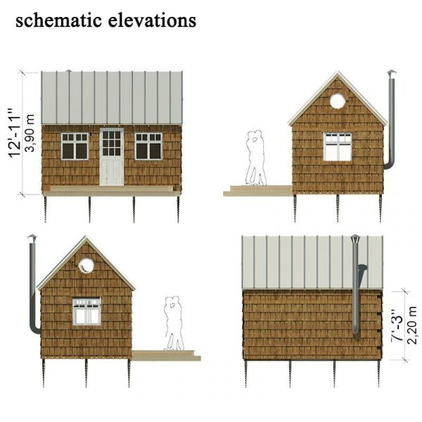 3 small cabin plans by pinuphouse small house decor for Wood cabin floor plans