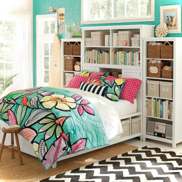 Colorful teenage girls room decor small house decor - Colorful teen bedroom designs ...