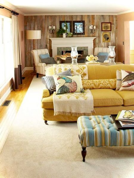 Colorfull Narrow Living Room