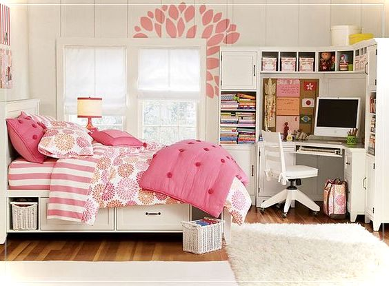 Cute Pink Teenage Rooms