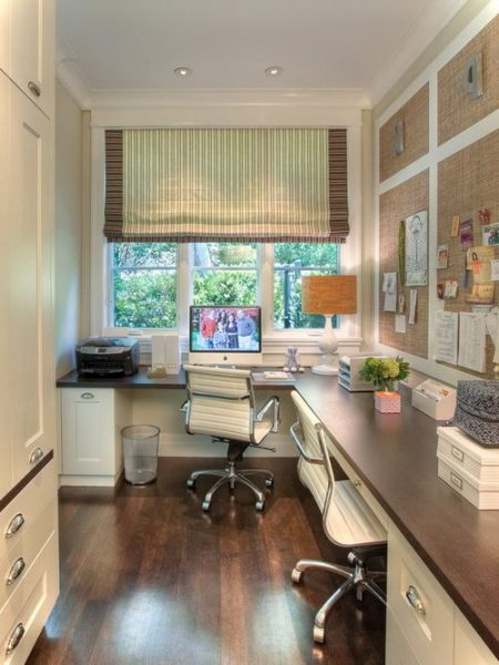 Elegant Small Home Office Next To Window
