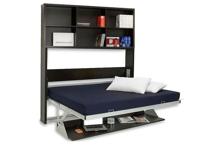 Elegant Murphy Bed Desk on Sleep Mode