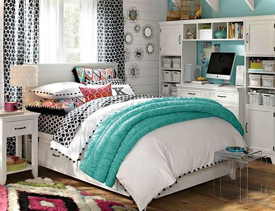 Girls Room With Study Desk