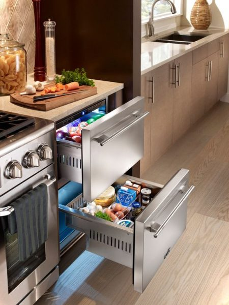 undercounter refrigerator for modern kitchen small house. Black Bedroom Furniture Sets. Home Design Ideas