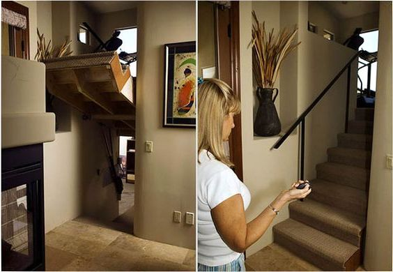 Hidden Passages Under Electric Stairs
