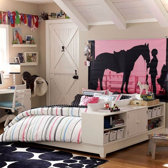 Horse Theme Teen Bedroom