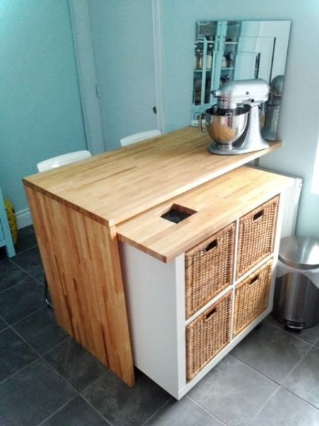 Mid Century Kitchen Island Cart
