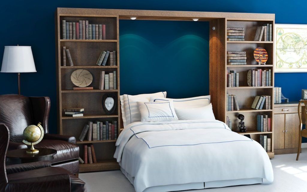 Library Murpy Bed - Revealing Bed