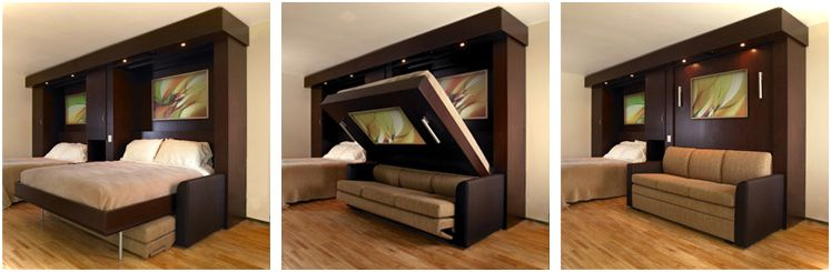 Brilliant Space Saving Bed And Sofa Murphy Sofa Bed Small House Decor