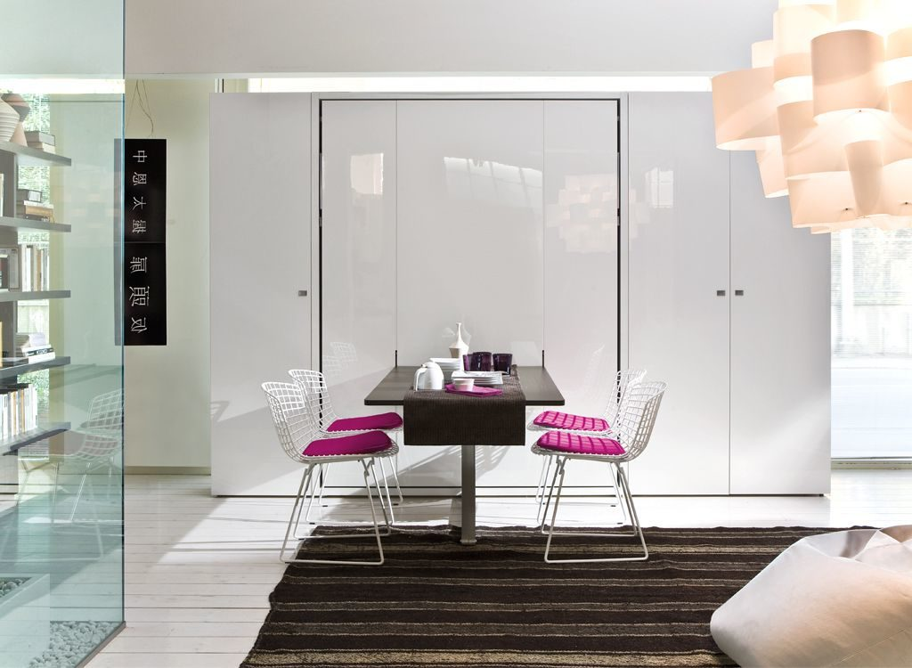 Minimalist Murphy Bed And Dining Table