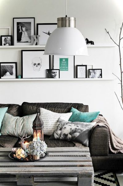 Monochrome Small Living Room Idas View 2
