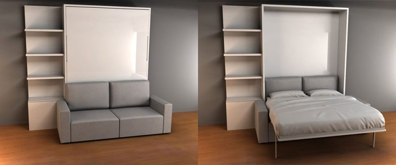 Brilliant Space Saving Bed And Sofa Murphy Sofa Bed