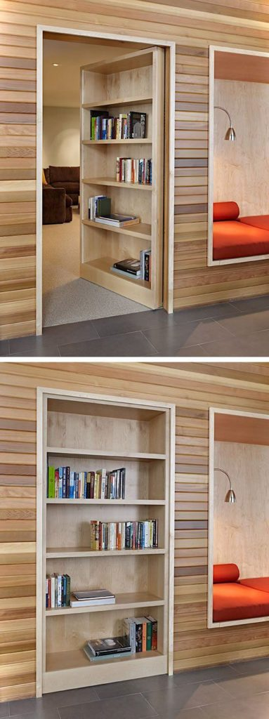 Secret Door On Bookshelf