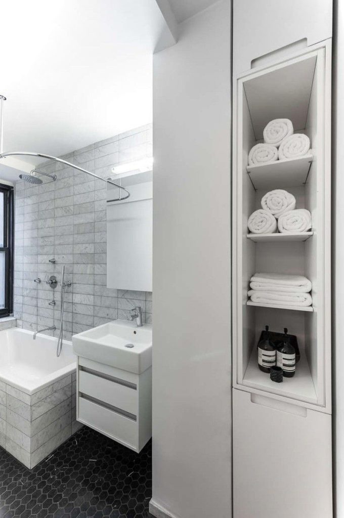 Sliding Wall Apartment Design bathroom