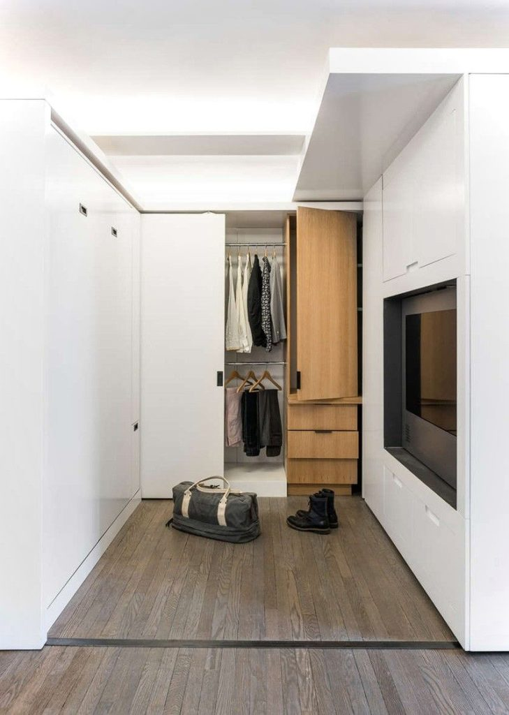 Small Apartment With Moving Wall Design