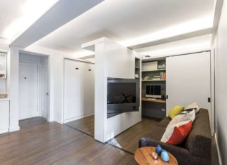 Sliding Wall Apartment Design pivot tv
