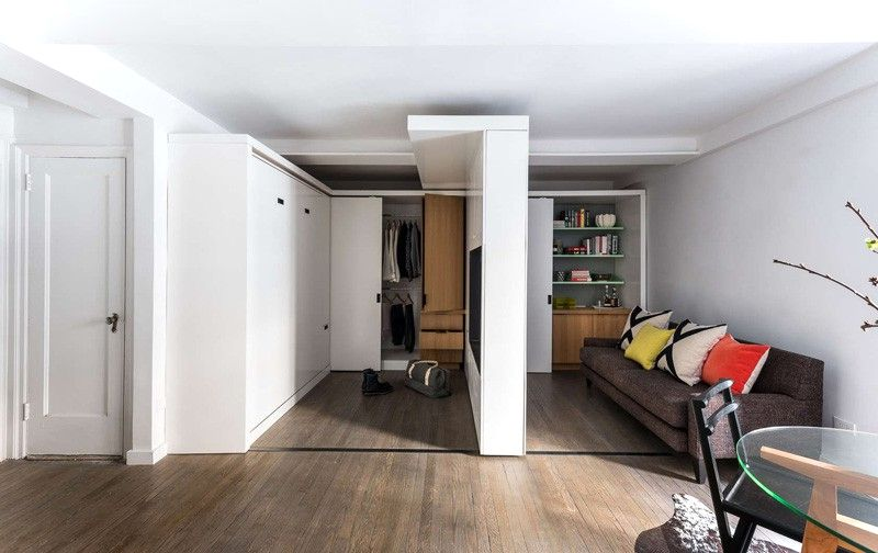 Small Apartment With Motorized Wall Sideview