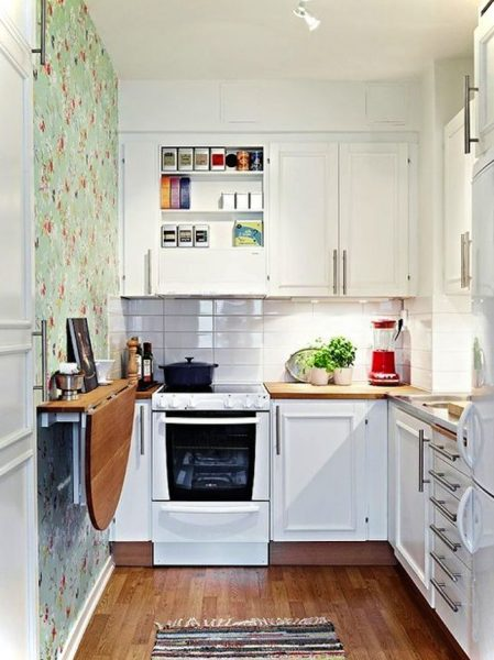 beautiful small kitchen simple with fold down table