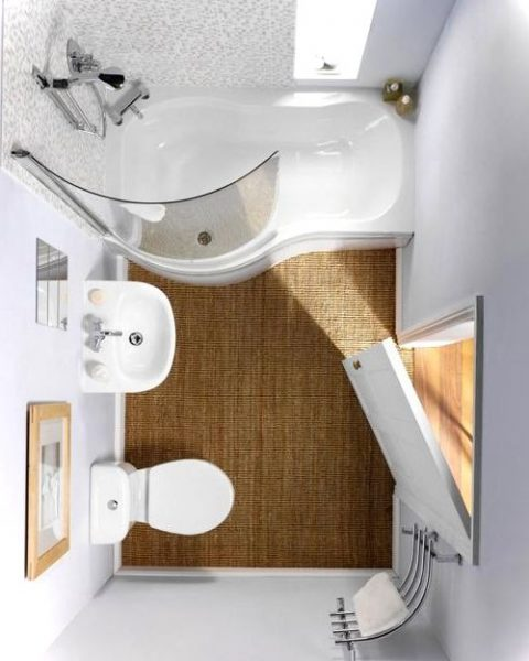 Tiny bathroom ideas for small house birdview gallery - Decoration douche et toilette ...