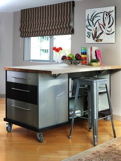 Industrial Small Kitchen Island