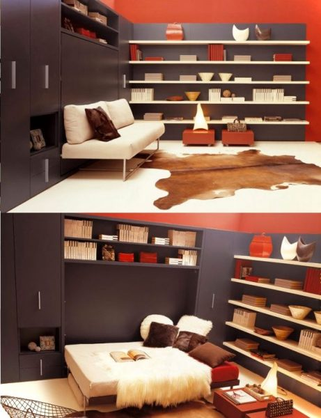Wall Mounted Bed And Sofa