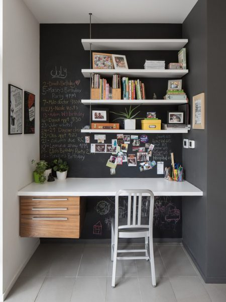 blackboard wall contomporary home office