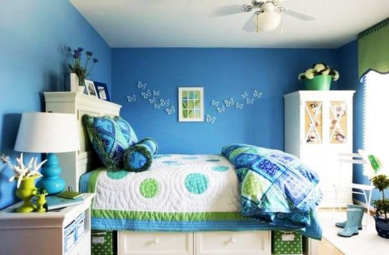 blue teenage girls room decor