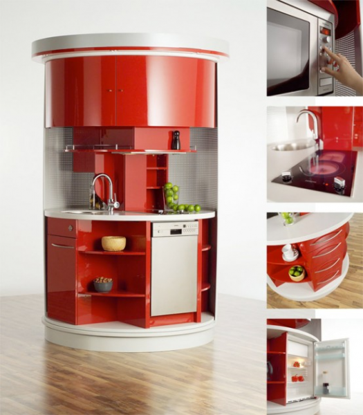 cylinder mini kitchenette