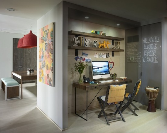 ecletic small home office