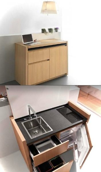 KM1-modern mini kitchenette