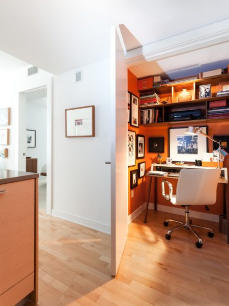 orange theme closet office