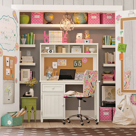10 ideas to brings office into your closets - small house decor