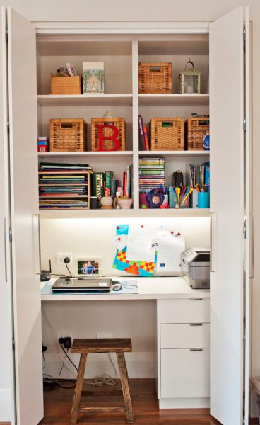 Desk Built Into Closet 10 ideas to brings office into your closets - small house decor
