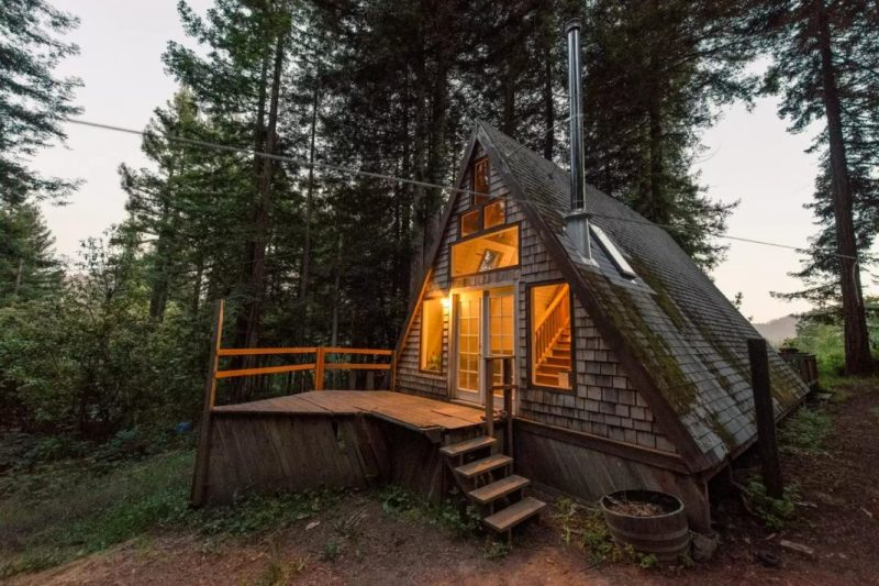 Perfect retreat in a frame tiny cabin you 39 ll love it for What is a frame home