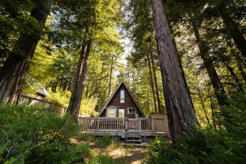 A-frame Tiny Cabin House Outdoor