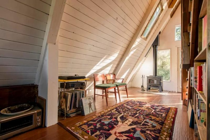 A-frame Tiny Cabin House Tours