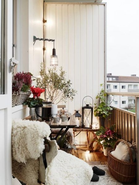 Adorable Light On Balcony