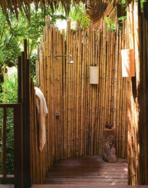 Bamboo Enclosure Outdoor Shower