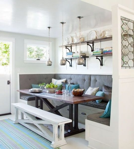 banquette style breakfast nook - Kitchen Nook