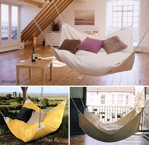21 cozy hammock hang out ideas for your indoor and - Indoor hammock hanging ideas ...
