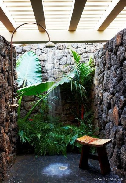Beautiful And Peaceful Outdoor Shower