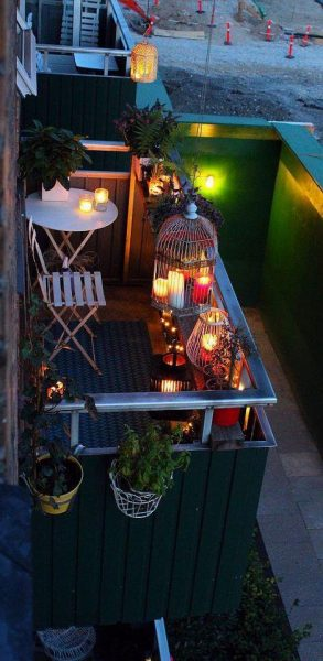 Beautiful Balcony With Candle Light