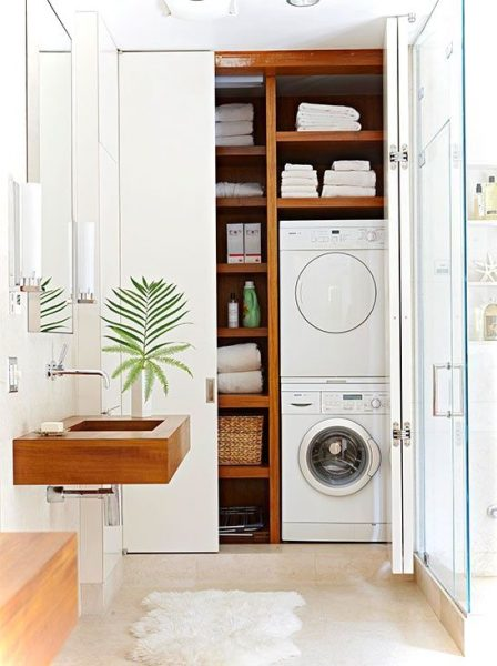 laundry room decor ideas for small spaces small house decor. Black Bedroom Furniture Sets. Home Design Ideas