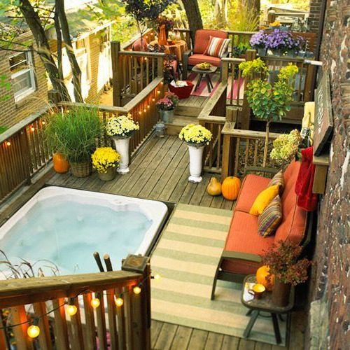 35 lovely and inspiring small balcony ideas small house for Small house design with terrace