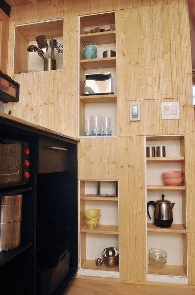 Colorful Box House In Wall Shelving