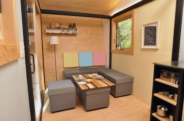 Whimsical 140 sq ft portable tiny box house small house Miniature room boxes interior design