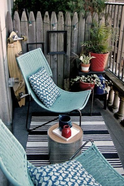 Comfy Small Balcony Design