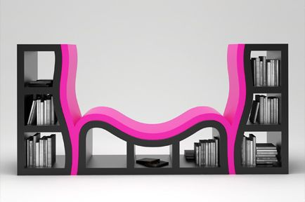 Console Bookshelf Chairs