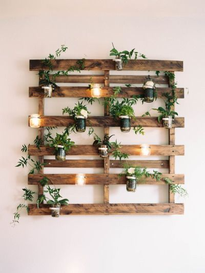 Creative Gardening On Pallet Shelves